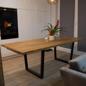 Meble z drewna i metalu | DKM Design | Stół rozkładany Wiedeń